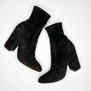 Valentino Stretch Suede Ankle Boots
